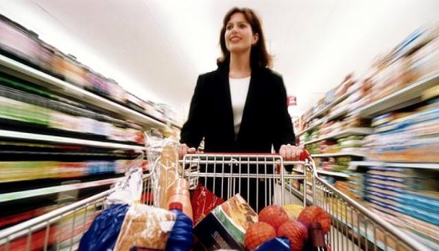 Покупатель в сепермаркете
