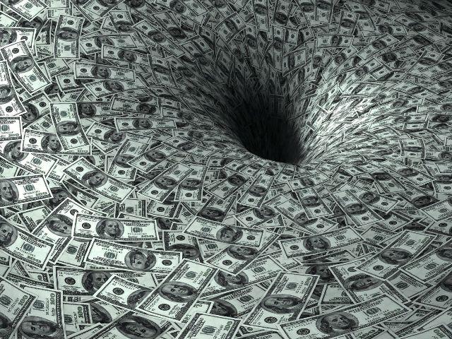 Воронка из денег