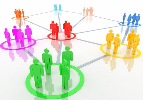 сеть групп людей